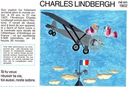 Buvard  -  CHARLES LINDBERG Né En 1902 - Transport