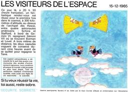 Buvard  - LES VISITEURS DE L' ESPACE - Transports