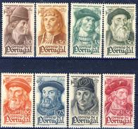 #Portugal 1945. Navigators. Michel 673-80. MNH(**) Stains Of Rust! - 1910-... Republic