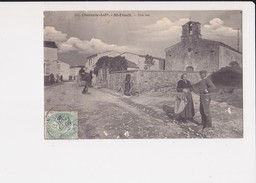 17 St Saint Froult Une Rue Cpa Animée Cachet 1906 - France