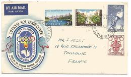 AUSTRALIE ENVELOPPE SOUVENIR JO MELBOURNE 1956