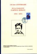 Livre 150° Anniversaire Naissance Arthur Rimbaud Charleville Poésie Timbres Et Oblitérations - Autres