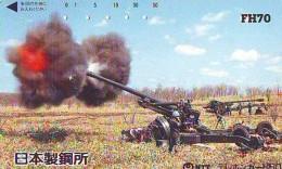 Télécarte JAPON * ARTILLERIE (28) MILITAIRY LEGER ARMEE * JAPAN Phonecard Army * ARTILLERY * GUNNERY - Armee