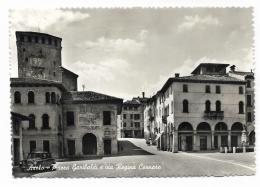 ASOLO - PIAZZA GARIBALDI E VIA REGINA CORNARO  VIAGGIATA FG - Treviso