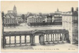 Compeigne - Vue Sur La Place Du Chateau Et La Ville - Unused ND Phot - Compiegne