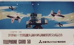 TELECARTE JAPON * MILITAIRY AVION  (586)  Flugzeuge * Airplane * Aeroplano * PHONECARD JAPAN * ARMEE * LEGER VLIEGTUIG - Armée