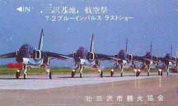 TELECARTE JAPON * MILITAIRY AVION  (587)  Flugzeuge * Airplane * Aeroplano * PHONECARD JAPAN * ARMEE * LEGER VLIEGTUIG - Armée