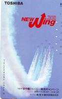 TELECARTE JAPON * MILITAIRY AVION  (594)  Flugzeuge * Airplane * Aeroplano * PHONECARD JAPAN * ARMEE * LEGER VLIEGTUIG - Armee