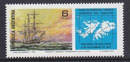 Argentina 1975 Ship / Malvinas (Fakland Islands) 1v ** Mnh (35604) - Ongebruikt
