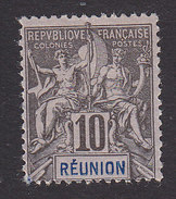 Reunion, Scott #38, Mint Hinged, Navigation And Commerce, Issued 1892 - Réunion (1852-1975)