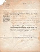 Nov.1815 - DÉCLARATION DE DISPARITION De Jean Challard, Chasseur 14° Régt. D'Infanterie Légère Fait Prisonnier De Guerre - Documenti Storici