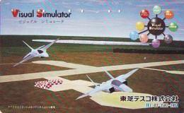 TELECARTE JAPON * MILITAIRY AVION  (603)  Flugzeuge * Airplane * Aeroplano * PHONECARD JAPAN * ARMEE * LEGER VLIEGTUIG - Armee