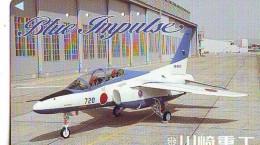 TELECARTE JAPON * MILITAIRY AVION  (604)  Flugzeuge * Airplane * Aeroplano * PHONECARD JAPAN * ARMEE * LEGER VLIEGTUIG - Leger
