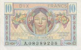 Billet 10 Francs Trésor Français 1947 FAY VF30.1 N° A.08389238 SPL - Treasury