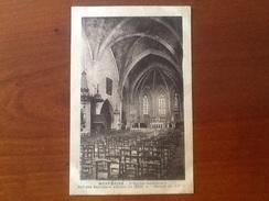 Cpa 24 Monpazier L'église Intérieure - Autres Communes