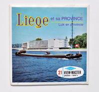 VIEW-MASTER : Liège Et Sa Province / Luik En Provincie, Années 1950 / Spa, Coo, Francorchamps, Huy, Remouchamps, Etc. - Visionneuses Stéréoscopiques