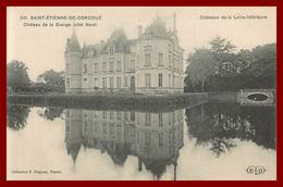 Théme Chateau De La Loire Inférieure * Saint étienne De Corcoué  * Chateau De La Grange  ( Scan Recto Et Verso ) - France