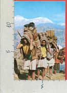 CARTOLINA NV NEPAL - NEPALESE Landscape Porters In Higland Mule Track - Annapurna Range - 9 X 14 - Nepal