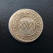 Spintria XVI_ Tessère Spintrienne Pompéi, Jeton Romain De Lupanar_ Ier S. Repro. - Romeins