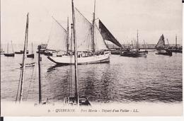 QUIBERON -- Le Port Maria + Départ D'un Voilier - Quiberon