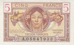 Billet 5 Francs Trésor Français 1947 FAY VF29.1 N° A.05847933 P/SPL - Treasury
