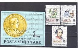 KUR02  ALBANIEN 1991  MICHL 2477/79 + BLOCK  94  Used / Gestempelt SIEHE ABBILDUNG - Albania