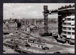 1959 STOCKHOLM SLUSSEN OCH KATARINAHISSEN FG V  SEE 2 SCANS TRAM - Suède