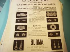 ANCIENNE PUBLICITE BIJOU ROYAL BURMA 1933 - Bijoux & Horlogerie
