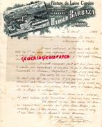 81 - LEZERT PAR BURLATS- BELLE FACTUREHAROLD BARBAZA- FILATURE DE LAINE CARDEE-USINE HYDRAULIQUE ER A VAPEUR- 1902 - France