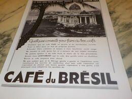 ANCIENNE PUBLICITE CAFE DU BRESIL RIO DE JANEIRO  1934 - Posters