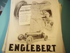 ANCIENNE PUBLICITE PNEU ENGLEBERT 1934 - Publicités