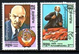KAMPUCHEA. N°567-8 De 1985 Oblitérés. Lénine.