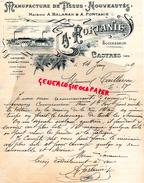81 - CASTRES- BELLE FACTURE A. FORTANIE- A. BALARAN- MANUFACTURE DE TISSUS - NOUVEAUTES- 1909 A M. CAILLASSOU - France