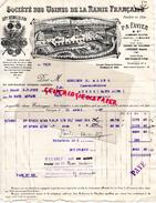 13 - MARSEILLE - BELLE FACTURE SOCIETE DES USINES RAMIE FRANCAISE- P.A. FAVIER- USINES DE VALOBRE A ENTRAIGUES-84-1927 - France