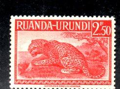 XP3029 - RUANDA URUNDI 1943 ,  Yvert N. 139 ***  MNH . LEOPARDO - Ruanda