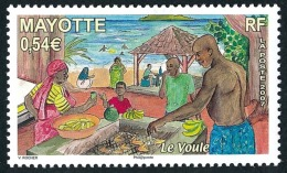MAYOTTE 2007 - Yv. 207 **   Cote= 2,20 EUR - Traditions : Le Voule (Grillade, ... à La Plage)  ..Réf.AFA22696 - Ungebraucht