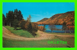 CAPE BRETON, NOVA SCOTIA - PROVINCIAL PICNIC SITE AT LAKE O'LAW, THE THREE SISTERS IN THE BACKGROUND - C. & G. MACLE - Cape Breton