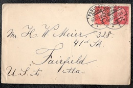 Germany1928:Michel413,414 On Cover From Esslingen -Fairfield,Alabama,USA - Allemagne