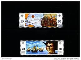 CYPRUS - 1992  EUROPA  TWO PAIRS  MINT NH - Chypre (République)