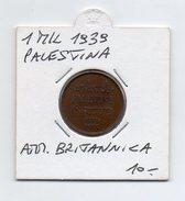 Palestina - Amministrazione Britannica -  1939 - 1 Mil - (FDC4526) - Monete