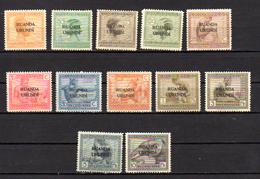 1924   Congo Belge Surchargé (Vloors), 50  / 61**, Cote 160 €, - Ruanda-Urundi