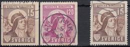 SUECIA 1941 Nº 290/91 + 290a USADO - Used Stamps