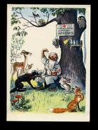 Fairy Tale Dr.Aibolit Heals Dog Fox Doctor Physician Red Cross Veterinarian Médecin Docteur Arzt Illustration By Suteev - Fiabe, Racconti Popolari & Leggende