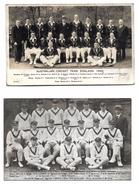Two Postcards, Australian Cricket Team, 1934 Real Photograph, Don Bradman Etc, Plus The 1926 Australian Team. - Cricket