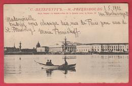 Russian / Russie - St. Pétersbourg - Vue De La Bourse Avec La Newa - 1902  ( Voir Verso ) - Russie
