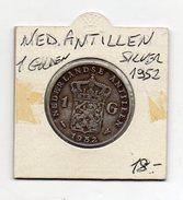 Paesi Bassi - (Olanda) - Colonie - Antille Olandesi - 1952 - 1 Gulden - Argento - (FDC4528) - [ 4] Colonie