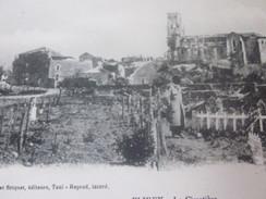 WW1   FLIREY EN LORRAINE LE CIMETIÈRE - CPA Thème Militaria Grande Guerre 1914-18 Ruine-Combat-Bombardement Allemand - Oorlog 1914-18