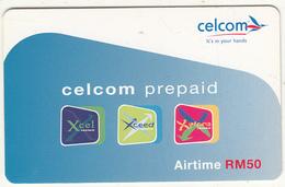 MALAYSIA - Celcom Prepaid Card RM 50, Exp.date 25/04/06, Used - Malaysia