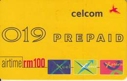 MALAYSIA - 019, Celcom Prepaid Card RM 100, Exp.date 01/11/03, Used - Malaysia