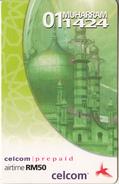MALAYSIA - Celcom Prepaid Card RM 50, Exp.date 01/02/04, Used - Malaysia